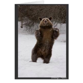 Dancing Bear Greeting Card