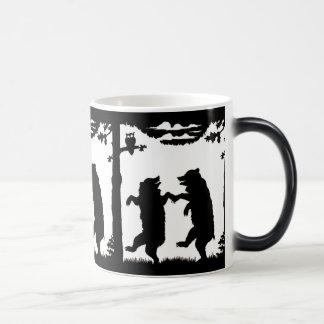 Dancing Bears Black Silhouette Coffee Mug