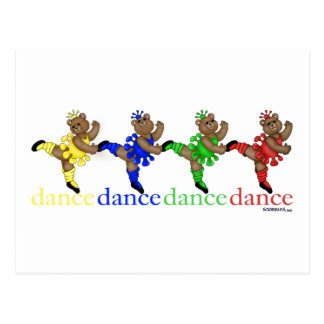 Dancing Bears Postcard