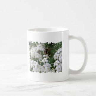 Dancing Bee Basic White Mug
