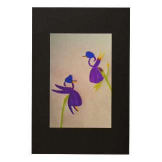 Dancing birds wood prints