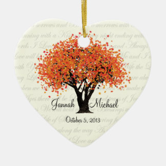 Dancing Blooms Wedding Photo Christmas Ornament