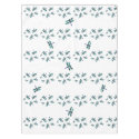Dancing Blue Dragonfly Pattern Tablecloth