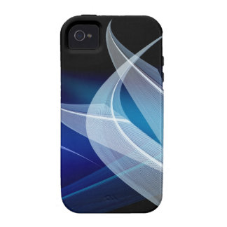 Dancing blue lines Case-Mate iPhone 4 cases