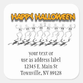 Dancing Bones (With Fun Text) Square Sticker