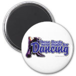 Dancing Boots 6 Cm Round Magnet