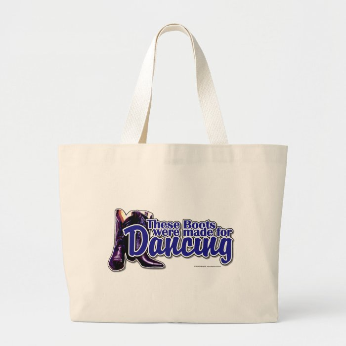 Dancing Boots Large Tote Bag