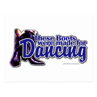 Dancing Boots Postcard