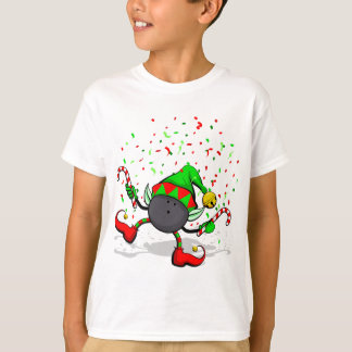 Dancing Bowling Christmas Elf T-Shirt