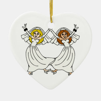 Dancing Brides Christmas Ornament