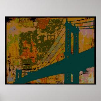 Dancing Bridge Print Poster