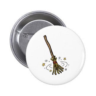 Dancing Broom 6 Cm Round Badge
