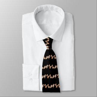 Dancing Bulldog Stripes Tie
