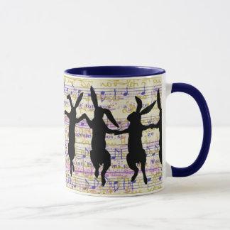 Dancing Bunnies Coffee Mug