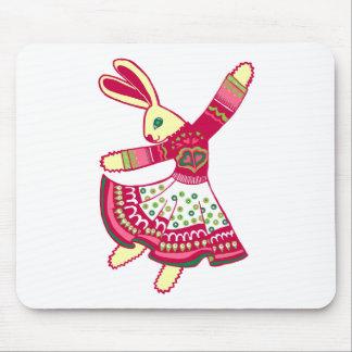 Dancing Bunny Mouse Mat