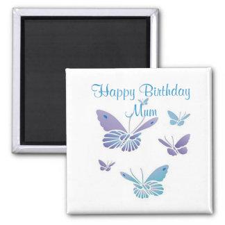Dancing Butterflies, Happy Birthday Mum Magnet