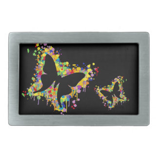 Dancing Butterfly Splash Rectangular Belt Buckles