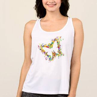 Dancing Butterfly Splash Tank Top
