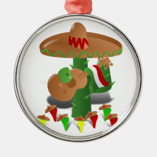 Dancing Cactus with Guitar Celebrates NHHM Christmas Ornament