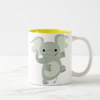 Dancing Cartoon Elephant  Mug