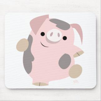 Dancing Cartoon Pig mousepad