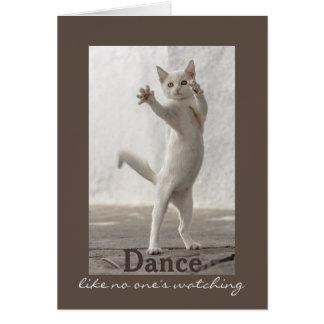 Dancing Cat Birthday Card
