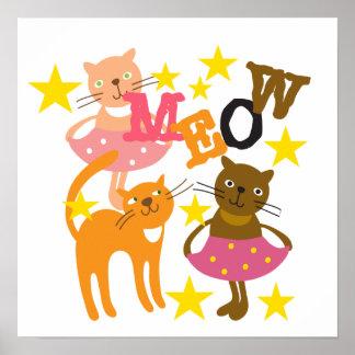 Dancing Cats Poster