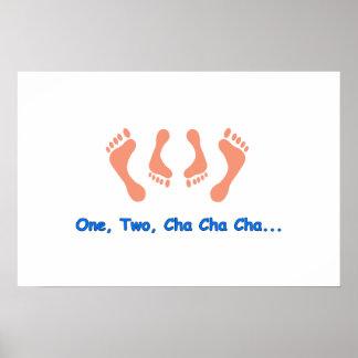 Dancing Cha Cha Feet Posters