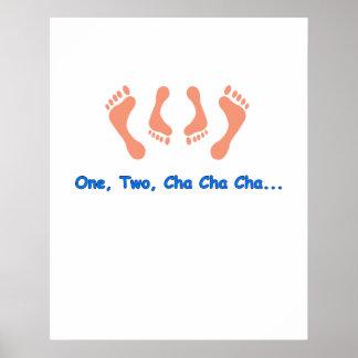 Dancing Cha Cha Feet Poster