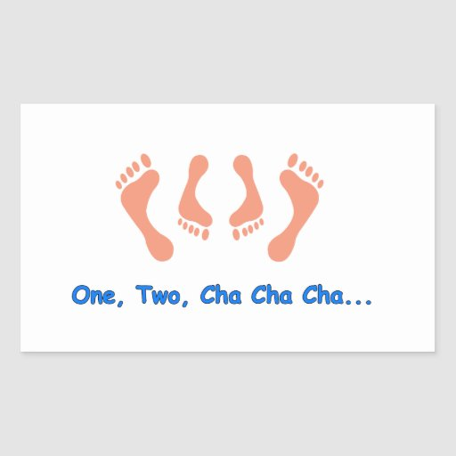 Dancing Cha Cha Feet Stickers