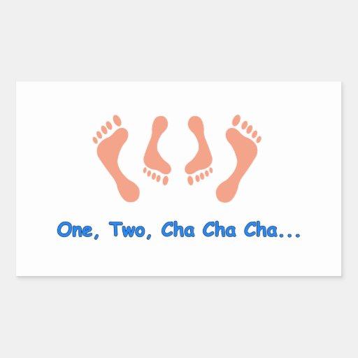 Dancing Cha Cha Feet Rectangular Sticker