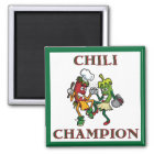 Dancing Chilli Peppers  Chilli Champion Magnet