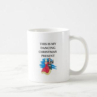 dancing christmas present basic white mug