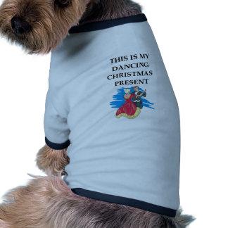 dancing christmas present pet clothes