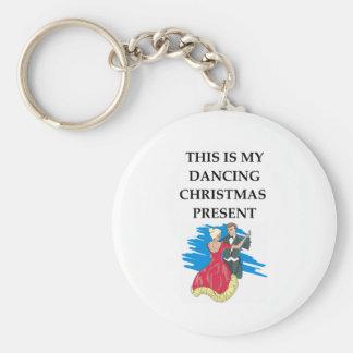 dancing christmas present key ring