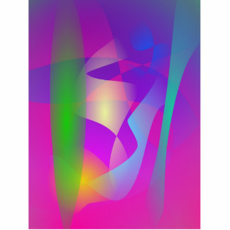 Dancing Colors Standing Photo Sculpture