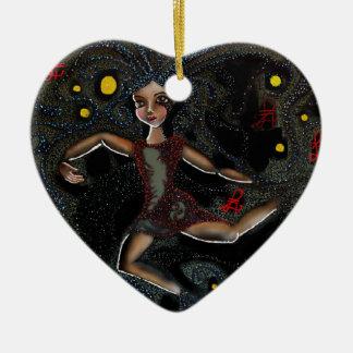 Dancing Cosmic Faye. Christmas Ornament