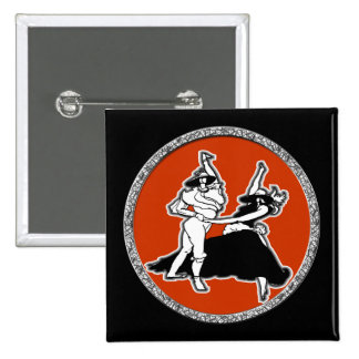 Dancing Couple 15 Cm Square Badge