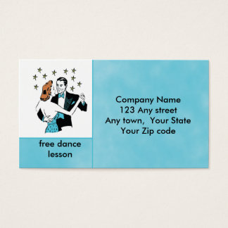 Dancing Couple in retro style studio or club card