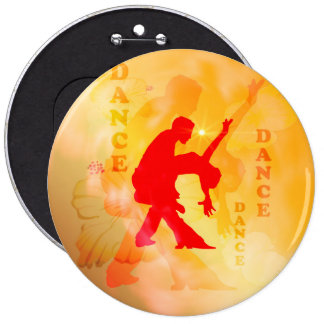 Dancing couple on a soft background 6 cm round badge