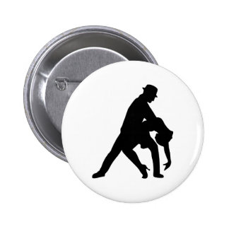 Dancing couple tango 6 cm round badge