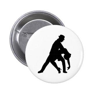 Dancing couple tango 6 cm round badge