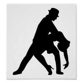 Dancing couple tango poster