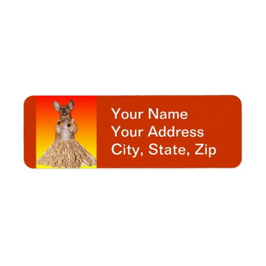 Dancing Dachshund Address Labels