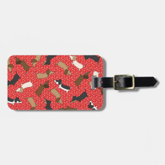 Dancing Dachshunds (Red) Luggage Tag
