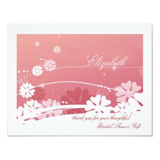 Dancing Dandelion Bridal Shower Thank You Note 11 Cm X 14 Cm Invitation Card