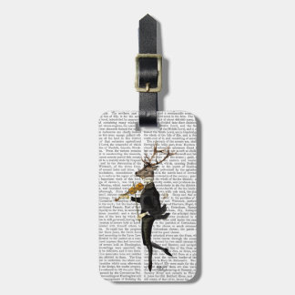 Dancing Deer with Violin Luggage Tag