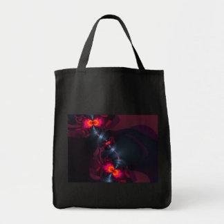 Dancing Devas – Violet & Salmon Sight Grocery Tote Bag