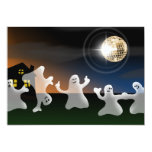 Dancing Disco Ghosts Halloween Party Invitations