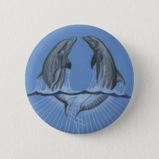 Dancing Dolphins 6 Cm Round Badge